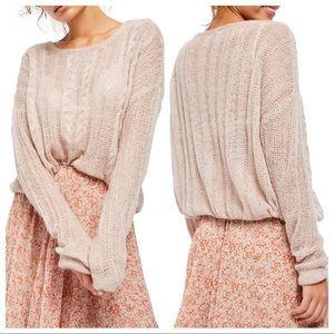 NWT Free People Angel Soft Pullover in Frappuccino